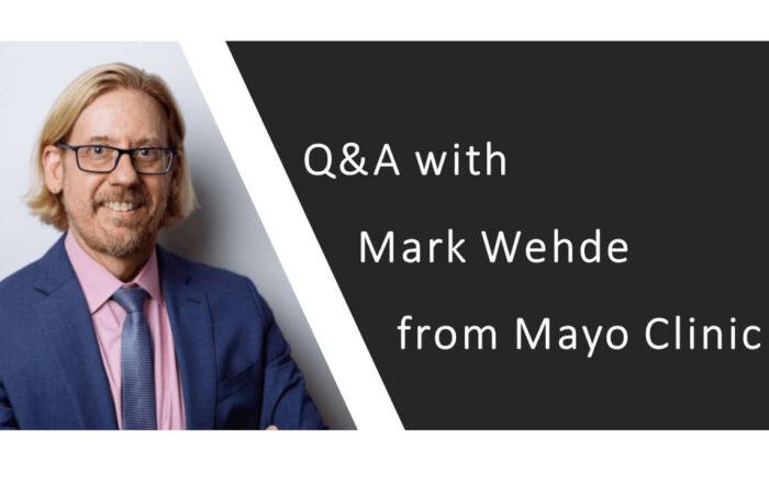 Headshot Mark Wehde from Mayo Clinic