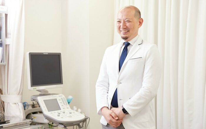 Doctor and Point-of-Care Ultrasound machine